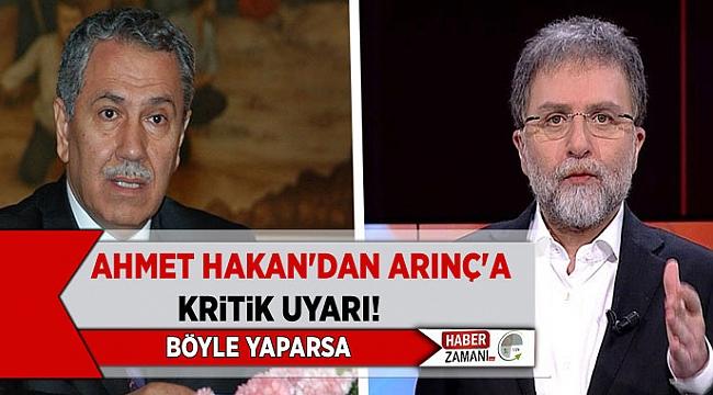 Ahmet Hakan'dan kritik uyarı! Bülent Arınç bir savunma stratejisi geliştirmiş gözüküyor!